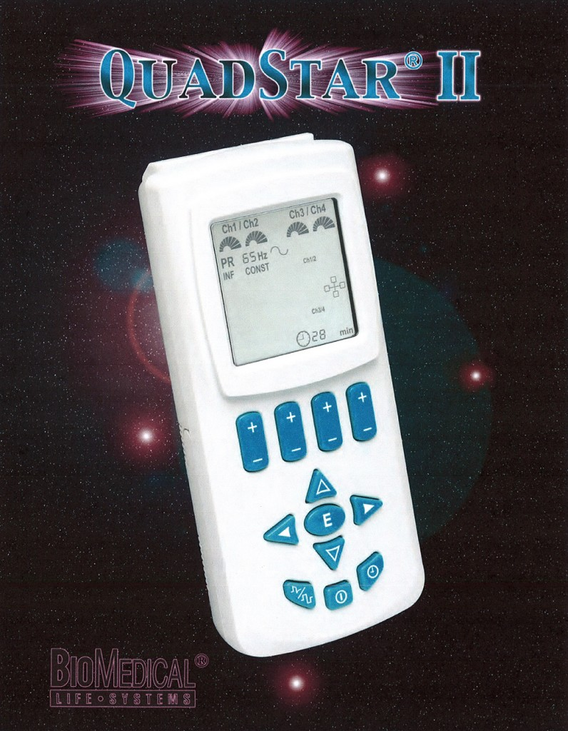 QuadStar II Transcutaneous Eletrical Nerve Stimulator ( TENS ) unit from BioMedical